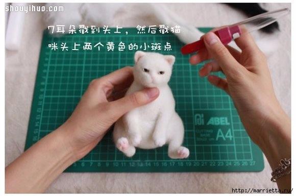 Коты и кошечки в технике сухое валяние из шерсти (8) (580x384, 107Kb)