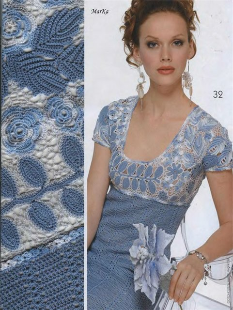 crochet beauty lace fashion for girl, crochet pattern