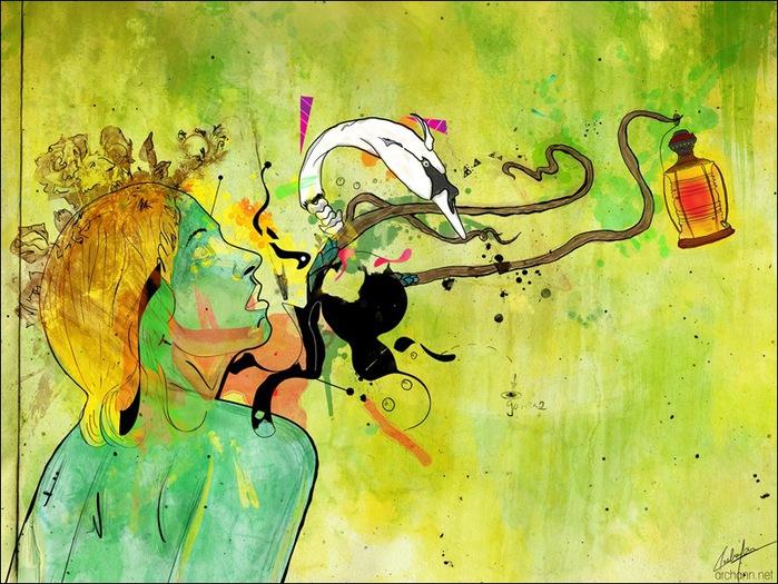 Archan Nair  - арт-директор и иллюстратор, проживающий в Нью-Дели, Индия 11