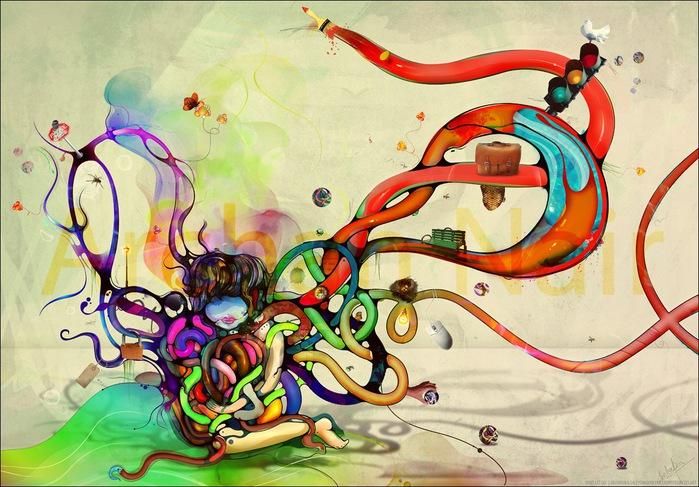 Archan Nair  - арт-директор и иллюстратор, проживающий в Нью-Дели, Индия 52