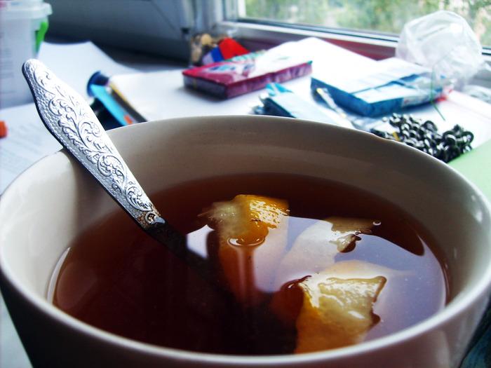 чашка лимон, простуда