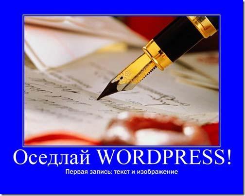 текст изображение wordpress