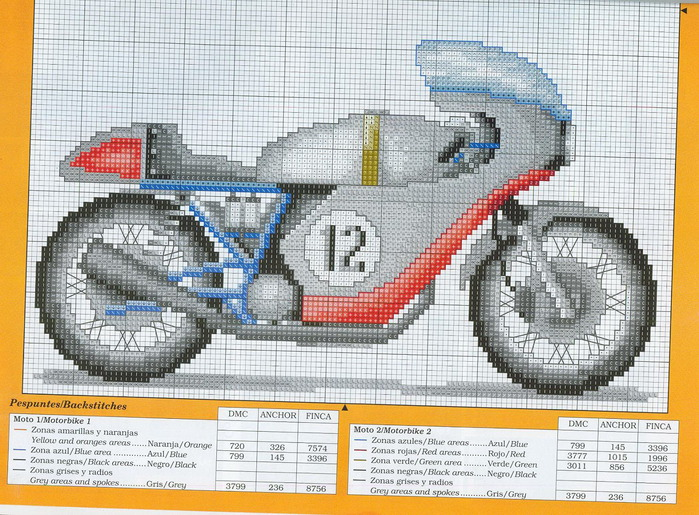 Часть 12 - Вышивка. Мотоцикл