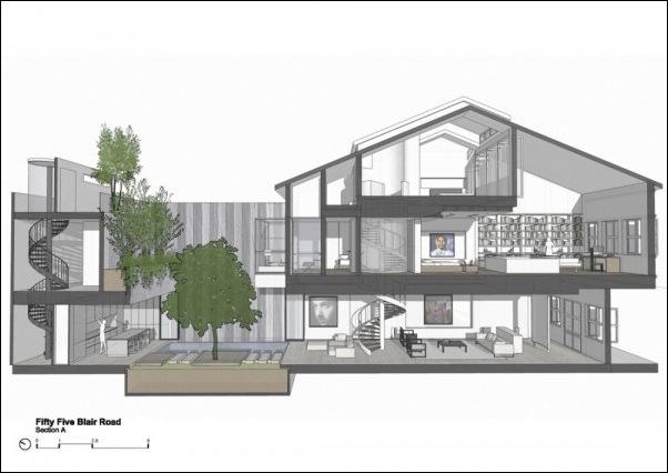 Дом в стиле минимал на Blair Road от студии Ong & Ong 20