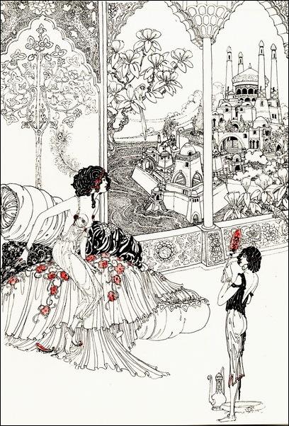 Картинки иллюстрации к Рубаи Омара Хайяма английского иллюстратора Рональда Бэлфура 3