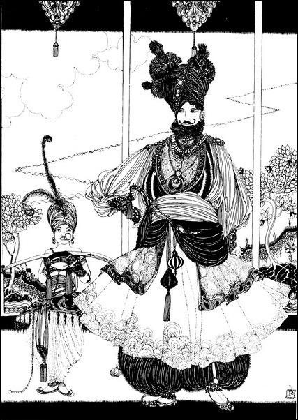 Картинки иллюстрации к Рубаи Омара Хайяма английского иллюстратора Рональда Бэлфура 7