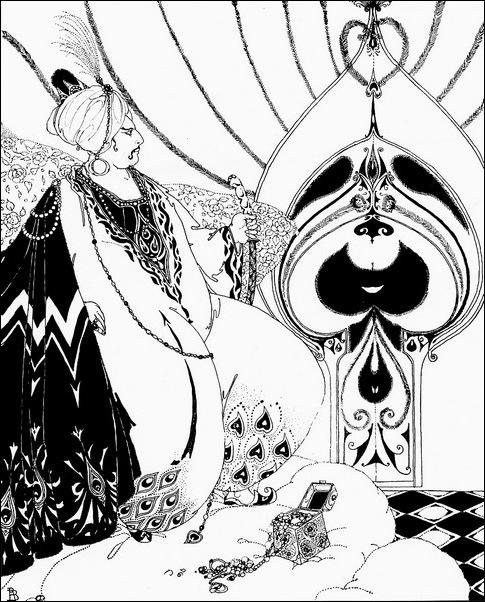 Картинки иллюстрации к Рубаи Омара Хайяма английского иллюстратора Рональда Бэлфура 14