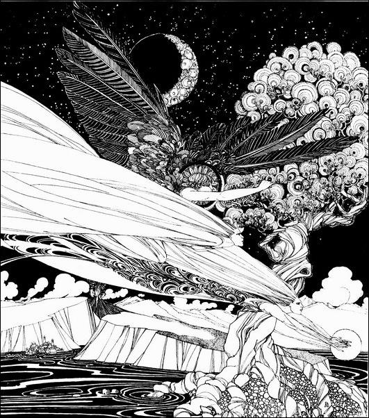 Картинки иллюстрации к Рубаи Омара Хайяма английского иллюстратора Рональда Бэлфура 16