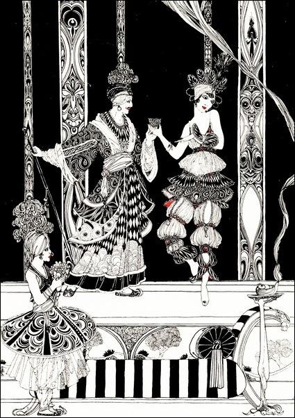 Картинки иллюстрации к Рубаи Омара Хайяма английского иллюстратора Рональда Бэлфура 20