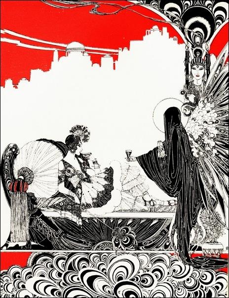 Картинки иллюстрации к Рубаи Омара Хайяма английского иллюстратора Рональда Бэлфура 27