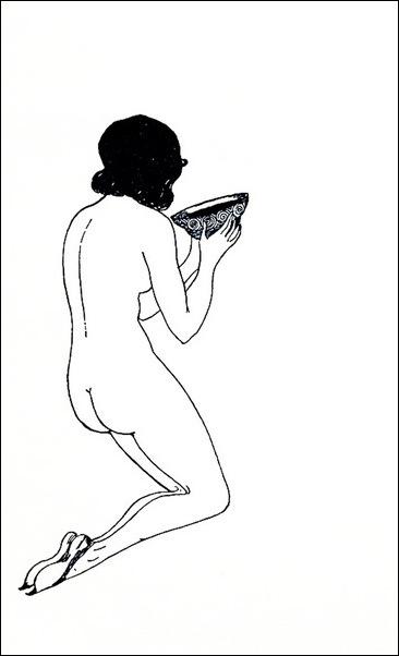Картинки иллюстрации к Рубаи Омара Хайяма английского иллюстратора Рональда Бэлфура(подтекстные рисунки) 1
