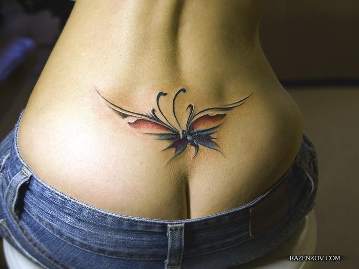 татуировка бабочка картинки