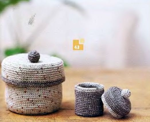 casket for holding: free crochet patterns