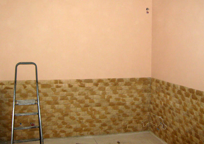Бежевый цвет стен