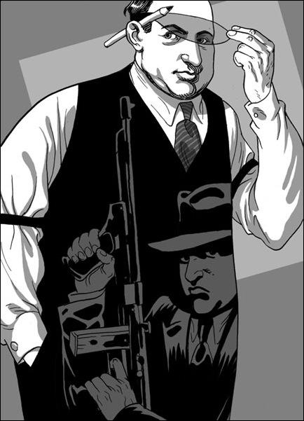 Израильские иллюстраторы Томер и Асаф Ханука (Tomer Hanuka, Asaf Hanuka) gangster4
