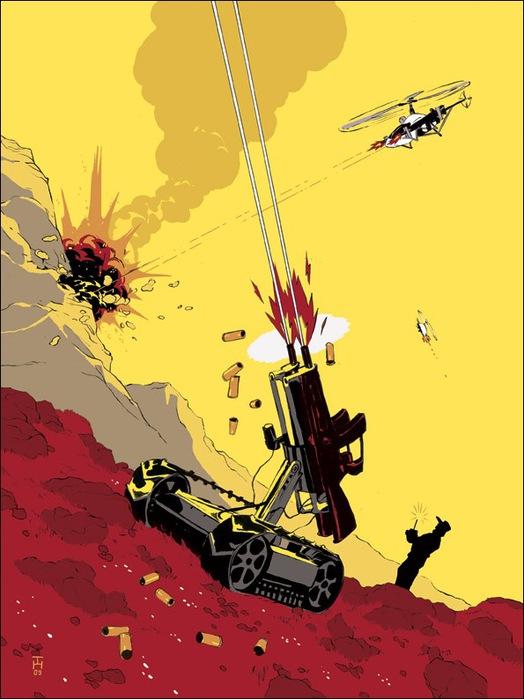 Израильские иллюстраторы Томер и Асаф Ханука (Tomer Hanuka, Asaf Hanuka) guns72