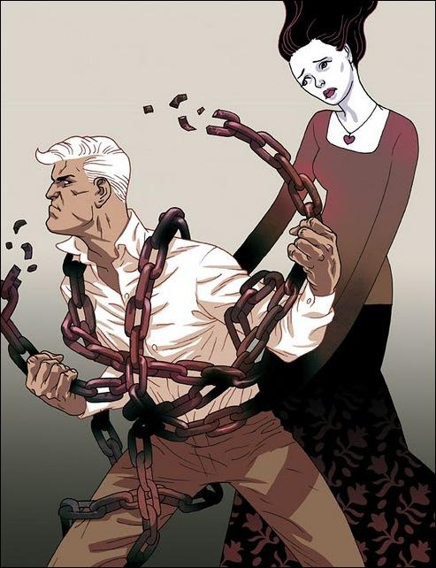 Израильские иллюстраторы Томер и Асаф Ханука (Tomer Hanuka, Asaf Hanuka) love7
