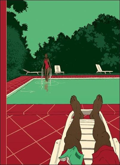 Израильские иллюстраторы Томер и Асаф Ханука (Tomer Hanuka, Asaf Hanuka) pool