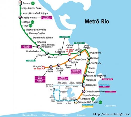 метро в Рио де Жанейро
