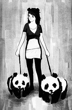 необычные рисунки девушек: