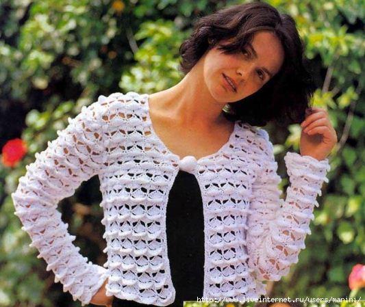 Джемперы, пуловеры крючком.