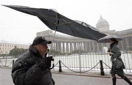 первый снег в петербурге