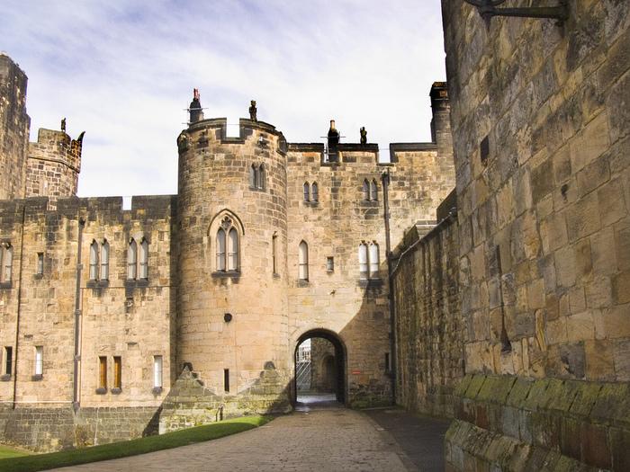 Замок Гарри Поттера - Замок Алник - Alnwick Castle 16148