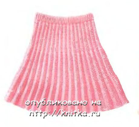 Схемы вязания спицами юбки плиссе