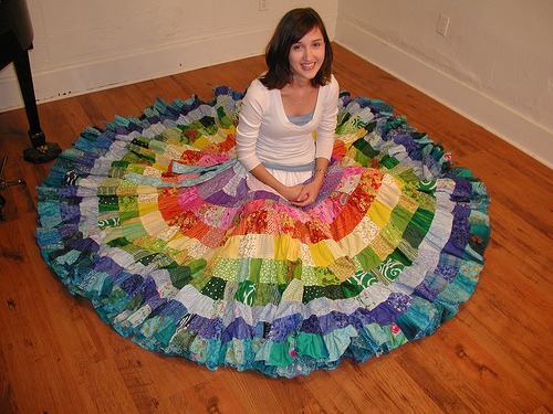 Такая неповторимая лоскутная юбка