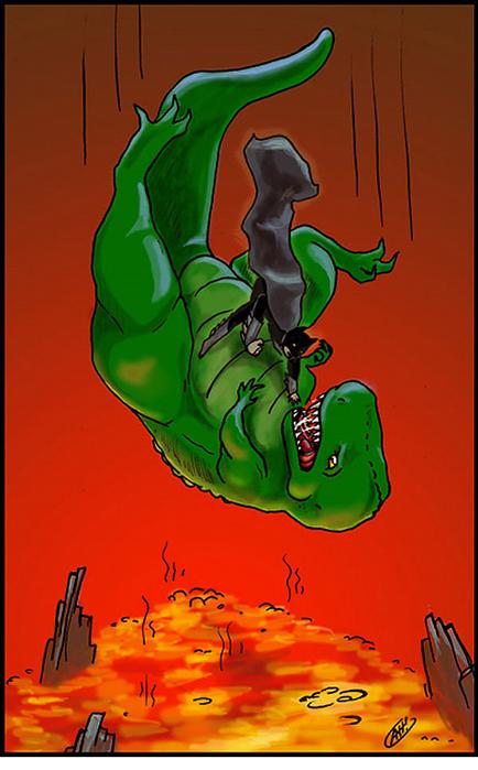Отчего вымерли динозавры   настоящие причины на карикатурах