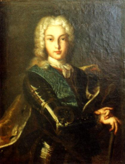 Портрет імператора Петра II в перуці (419x550, 32 Kb)