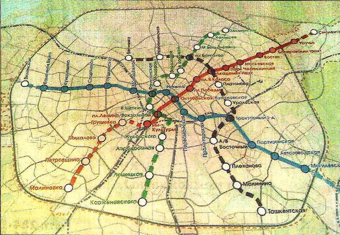 схему нашего метро
