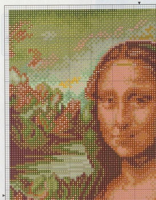Часть 4 - вышивка - Мона Лиза