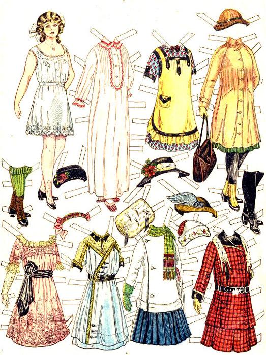 Бумажные куклы с гардеропом