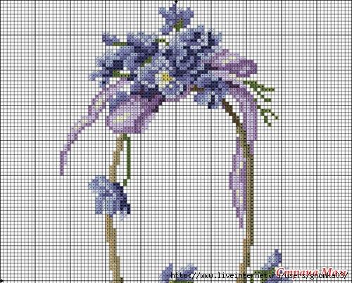 Бесплатные схемы вышивок корзины с цветами