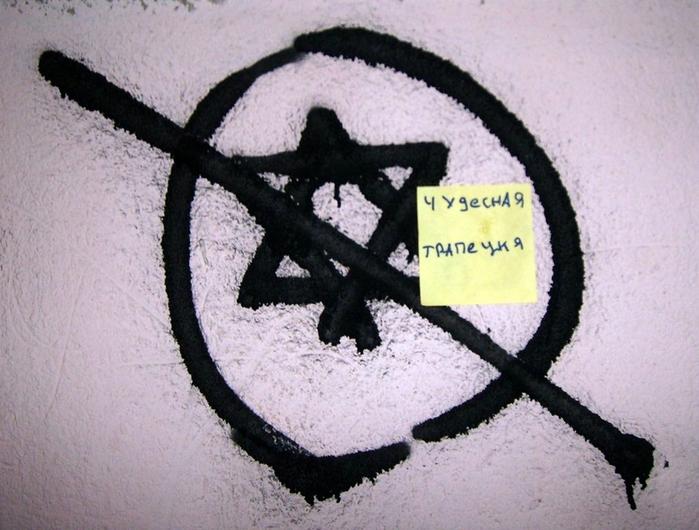 монолог с городом, бумажки с надписями, антисемит, трапеция, звезда давида