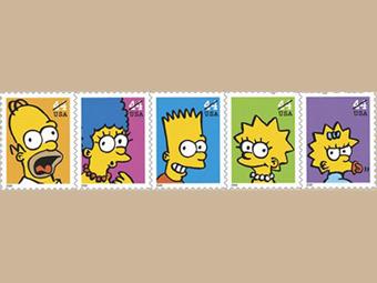 почтовая марка симпсоны