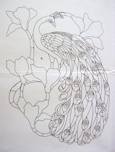 Шаблоны для витражной росписи 83079