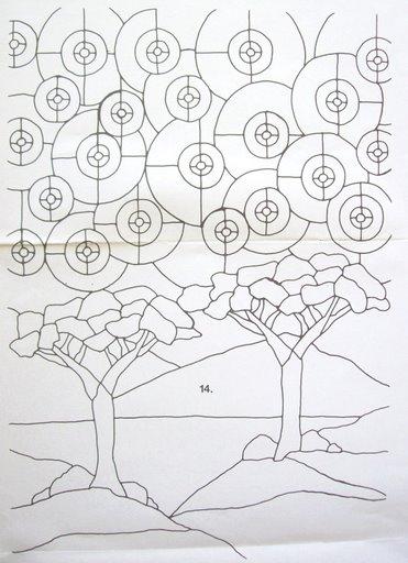 Шаблоны для витражной росписи 46557