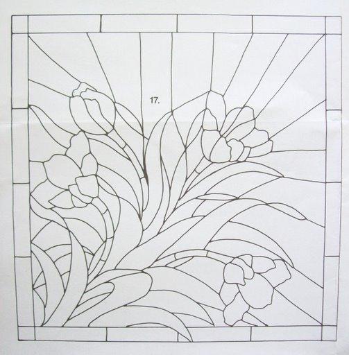 Шаблоны для витражной росписи 22243