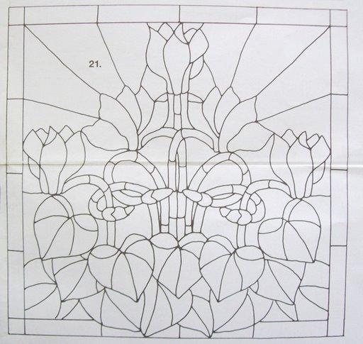 Шаблоны для витражной росписи 39911