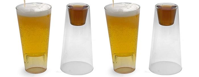 стакан для пива и водки в одном флаконе