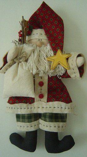 Тильдовский Дед Мороз с выкройкой