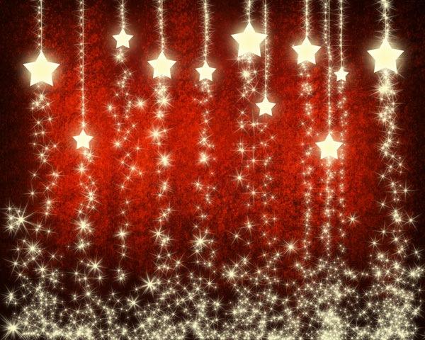 Урок Photoshop. Рождественский фон со снежинками и звездочками