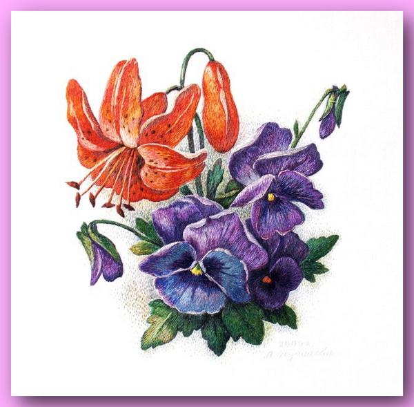 66913461 334690 El Emeği Çiçek Nakışları En Güzel Nakış Modelleri