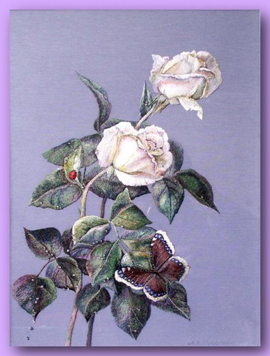 66913549 335156 El Emeği Çiçek Nakışları En Güzel Nakış Modelleri