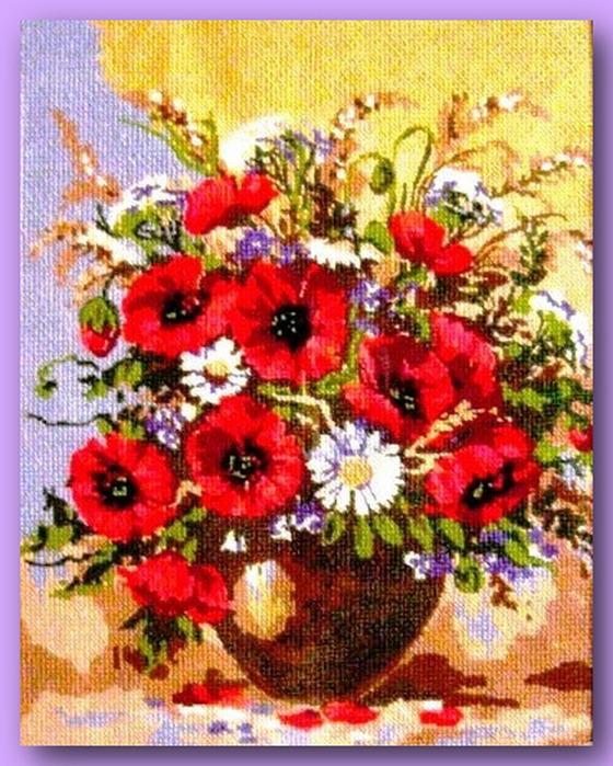 66913568 398964 El Emeği Çiçek Nakışları En Güzel Nakış Modelleri