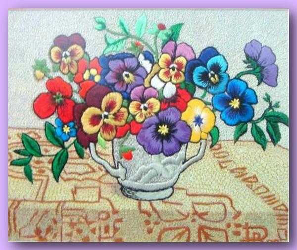 66913981 496219 El Emeği Çiçek Nakışları En Güzel Nakış Modelleri