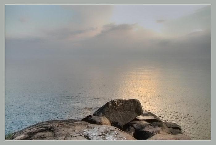 Тихий вечер на Онежском озере