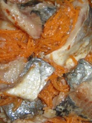 Маринованная селёдка с овощами